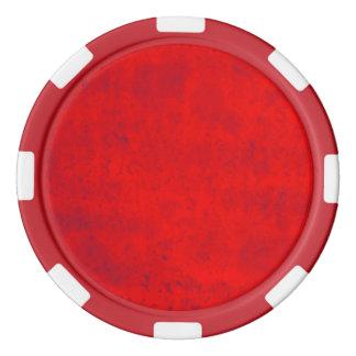 Rouge sale rouleau de jetons de poker