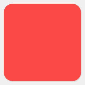 ROUGE simple : Achetez VIDE ou ajoutez l'IMAGE des Sticker Carré