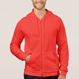 ROUGE : Sweat - shirt à capuche de fermeture