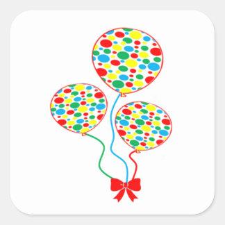 Rouge, tacheté, coloré, autocollant de ballon