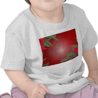 Rouge VI de poinsettia de Noël T-shirt