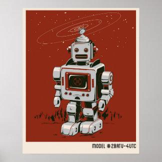 Rouge vintage du robot 2