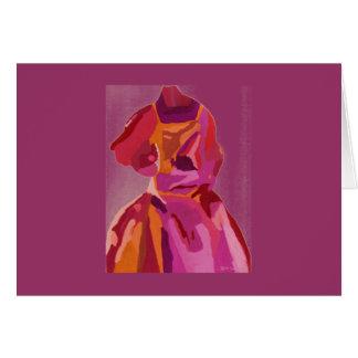Rouges d'automne de Fashionista de diva Carte De Vœux