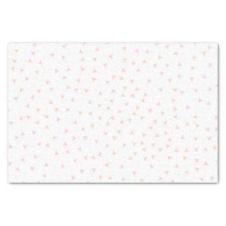 Rougissent le motif géométrique rose de confettis papier mousseline