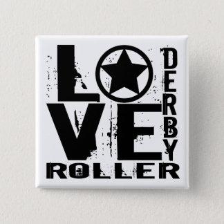 Rouleau Derby d'AMOUR Badge Carré 5 Cm