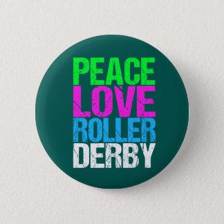 Rouleau mignon Derby d'amour de paix Badge Rond 5 Cm