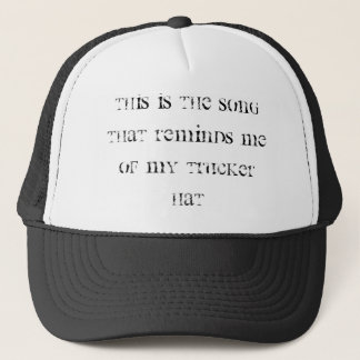 Roulement pour la soupe : casquette de camionneur