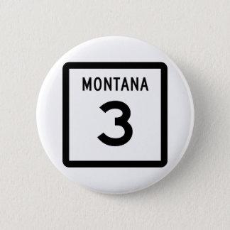 Route 3 du Montana Badge Rond 5 Cm