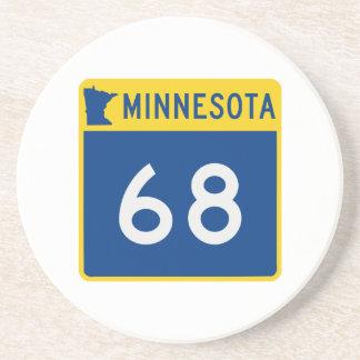 Route 68 de tronc du Minnesota Dessous De Verre En Grès