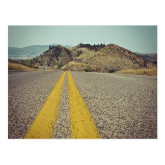 Route américaine au réservoir le Colorado de Cartes Postales