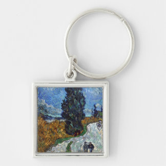 Route de campagne de Van Gogh en Provence par nuit Porte-clés