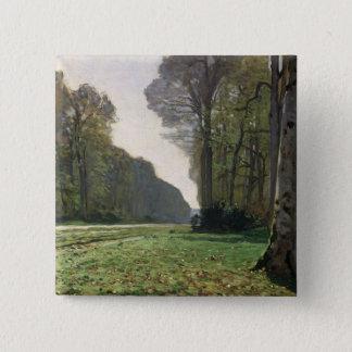 Route de Claude Monet | à Bas-Breau, Fontainebleau Badge Carré 5 Cm