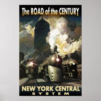 Route de NYC du siècle Poster