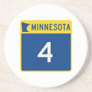 Route nationale 4 du Minnesota Dessous De Verre En Grès