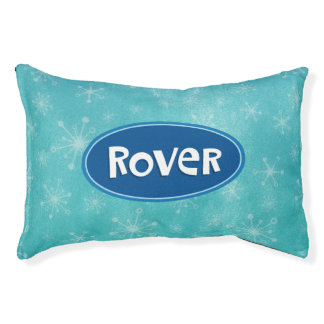 Rover a personnalisé le bleu lit pour chien
