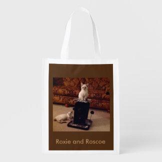 Roxie et sac réutilisable de Roscoe