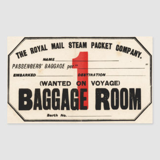Royal Mail Steam Packet Co Sticker Rectangulaire