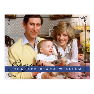 Royals Charles Diana et William Cartes Postales