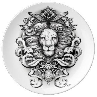 Royaume sauvage assiette en porcelaine