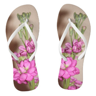 Roze Bloemen Teenslippers