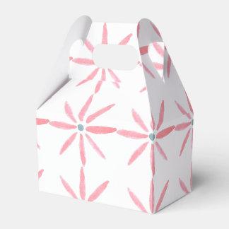 Roze bloemengunst/giftdoos bedankdoosjes