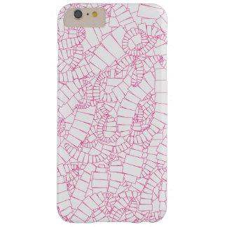 Roze Draaikolk van Rechthoeken Barely There iPhone 6 Plus Hoesje