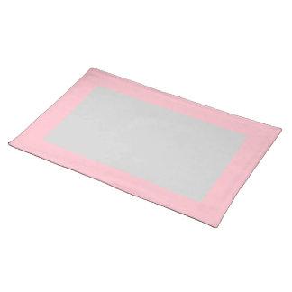 Roze en Lichtgrijze Placemat