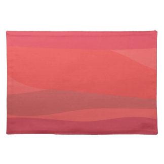 Roze en Oranje Minimalism Placemats