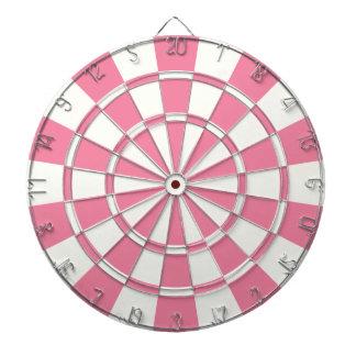 Roze en Wit Dartbord