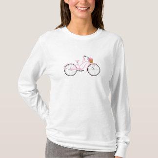 Roze Fiets met Wimpels T Shirt
