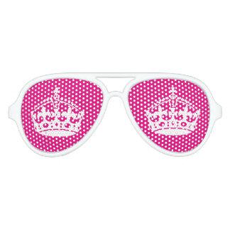 Roze houd kalme partijschaduwen voor vrijgezellin aviator zonnebril