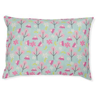 Roze Konijntjes en Bloemen Hondenbedden