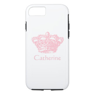 Roze Kroon - personaliseer het iPhone 8/7 Hoesje