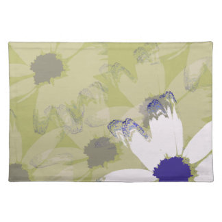 Roze Olijf Groene Daisy Floral Art Placemats