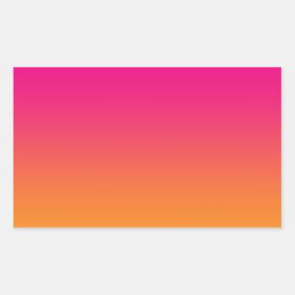 Roze & Oranje Ombre Rechthoek Sticker