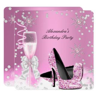 Roze Partij van de Verjaardag van de Hielen van Kaart