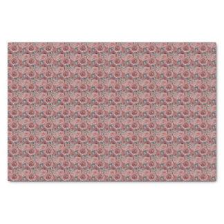 Roze rozen en ringspapieren zakdoekje tissuepapier