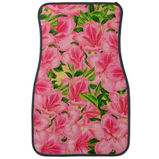 Roze Vintage Bloemen Auto Vloermat