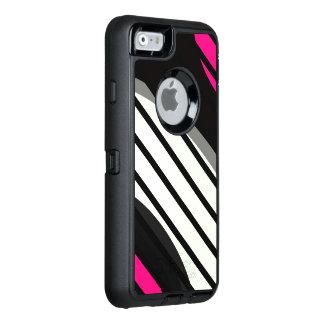 Roze Witte Zwarte Vector OtterBox iPhone 6/6s Hoesje