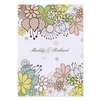 RSVP épousant le neutre fleurit les cartes faites  Cartes De Visite Professionnelles