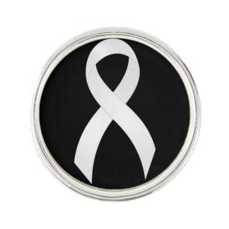 Ruban de blanc de cancer de poumon épinglette