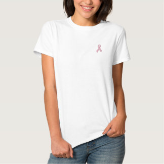 Ruban de conscience de cancer du sein polos brodés