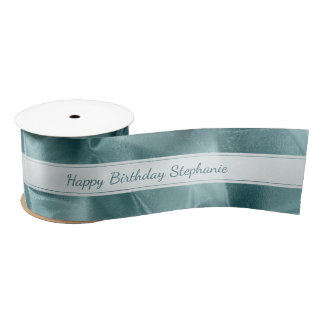 "Ruban En Satin Aqua ""joyeux anniversaire"" ou toute occasion,"