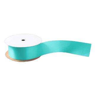 Ruban En Satin Couleur bleue de turquoise d'Aqua enthousiaste