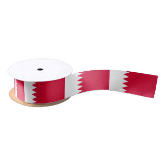 Ruban En Satin Drapeau du Bahrain