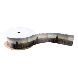 Ruban En Satin Horizon de paysage d'Empire State Building