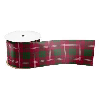 Ruban En Satin Motif écossais de tartan de Crawford
