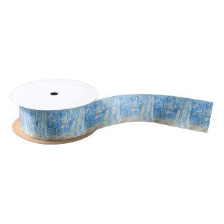 Ruban En Satin Peinture bleue abstraite