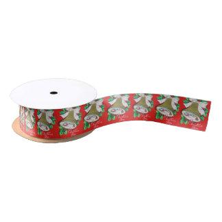 Ruban En Satin Rétro ruban vintage de partie de cloche de Noël