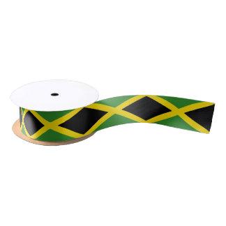 Ruban En Satin Ruban patriotique avec le drapeau de la Jamaïque